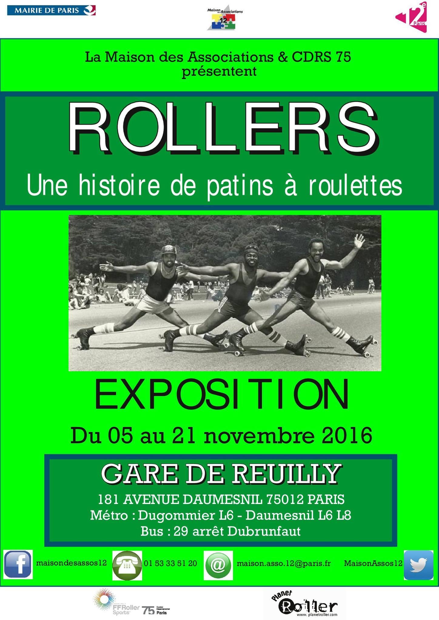 Exposition rollers la maison des associations du 12e for Expos paris novembre 2016